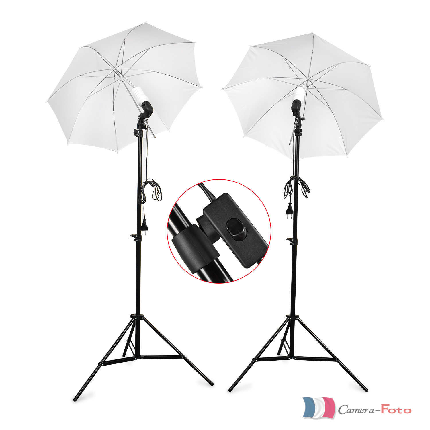 bps photo studio parapluie photographique continue kit lumi re lampe ampoule ebay. Black Bedroom Furniture Sets. Home Design Ideas
