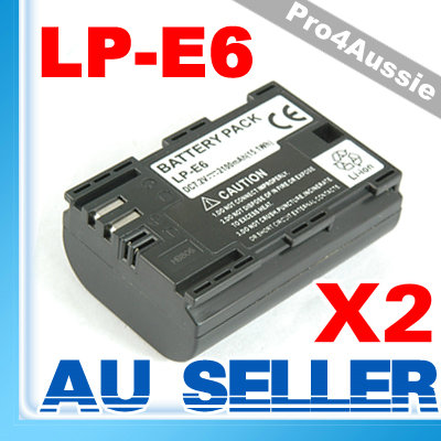 2x-Fully-Decoded-Battery-LP-E6-for-EOS-5D-Mark-II-7D-60D-BG-E7-BG-E9-GRIP-NEW