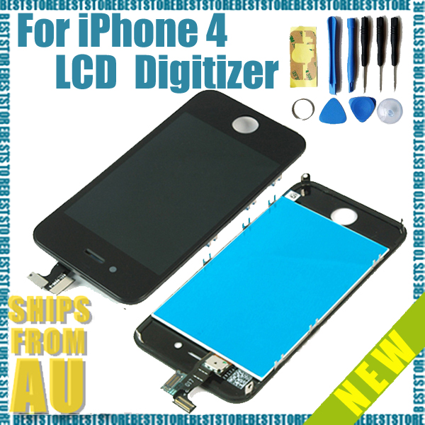 LCD-display-Digitizer-Screen-Replacement-full-Assembly-for-iPhone-4-4G-Tools-AU