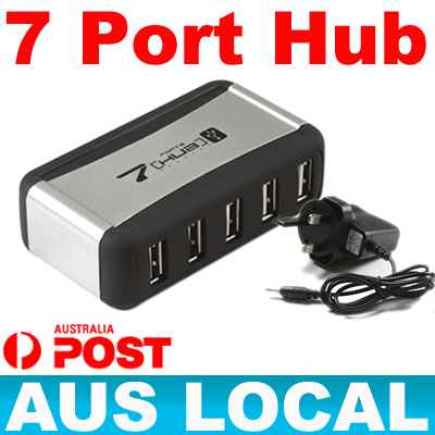 7-Port-Mains-USB-2-0-Bus-Power-Hub-AC-Adapter-for-Laptop-Notebook-windows-linux