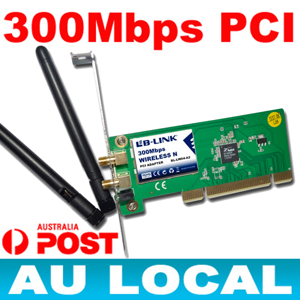 NEW-300Mbps-PCI-N-Adapter-wireless-IEEE-802-11n-g-WIFI-for-Windows-Vista-7-AU
