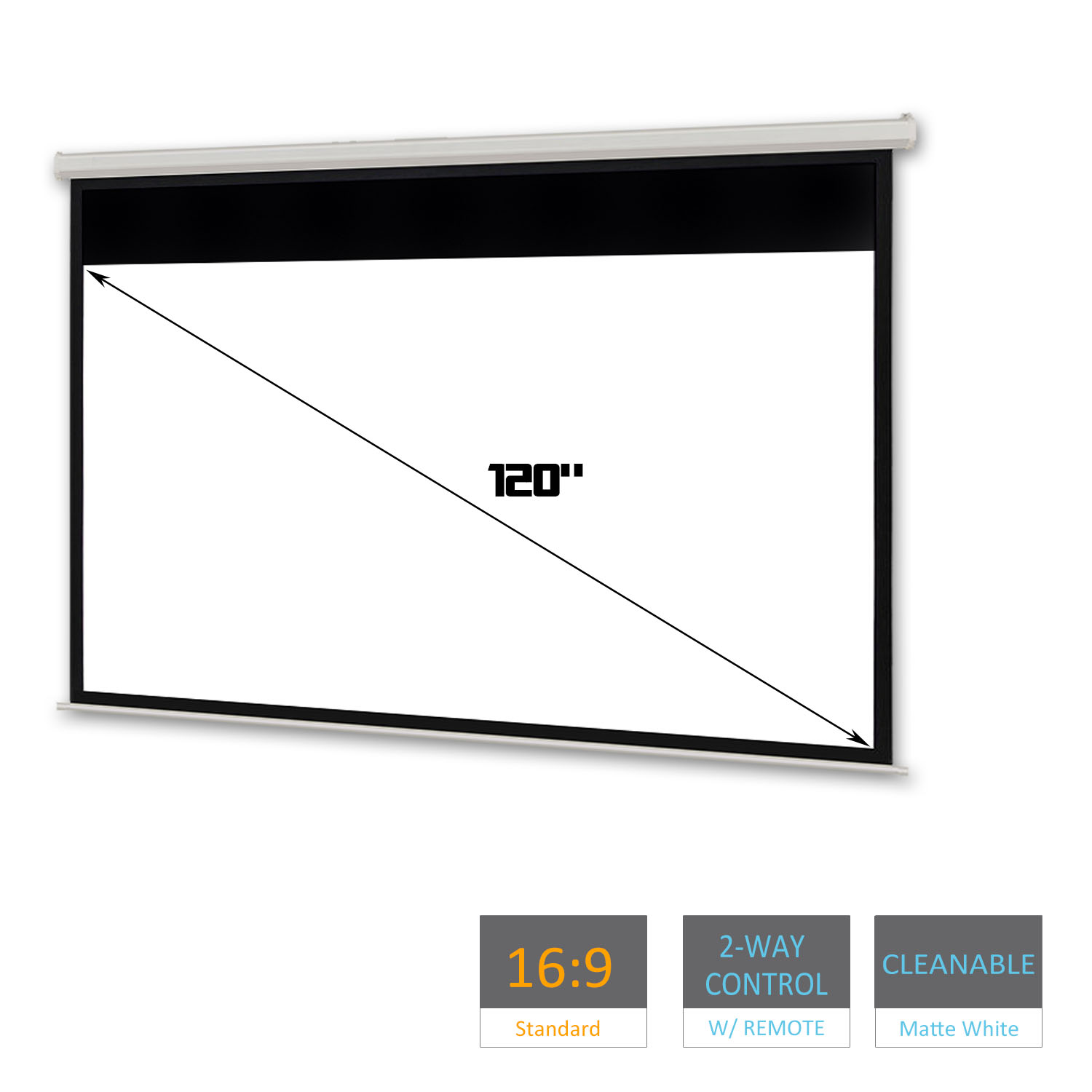 120 Electric Motorised Projector Screen Home Theatre Hd