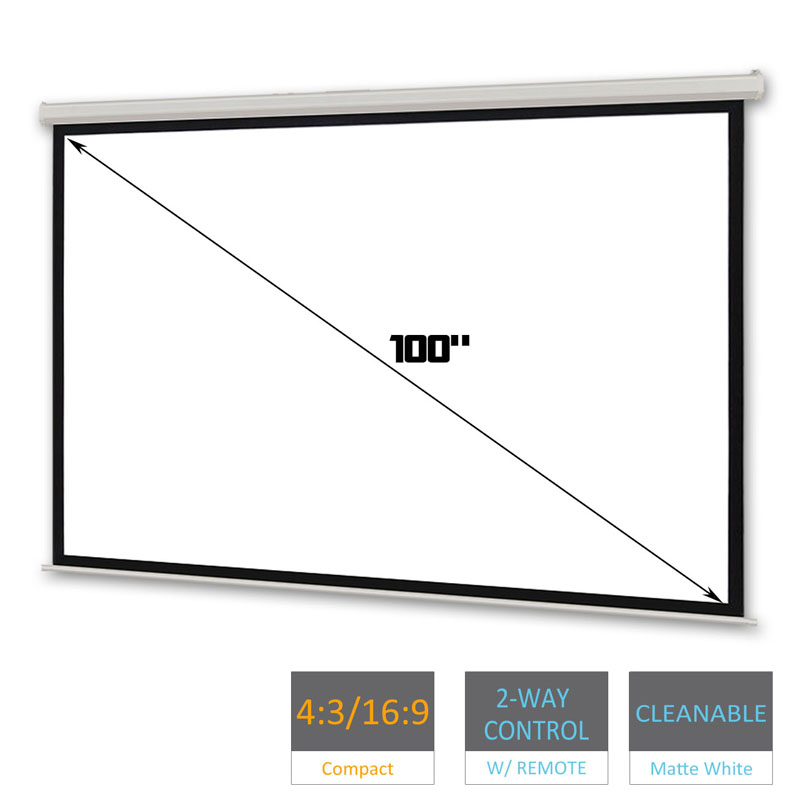 100 inch electric projector screen tv cinema hd 1080i 16 for 100 inch motorized projector screen