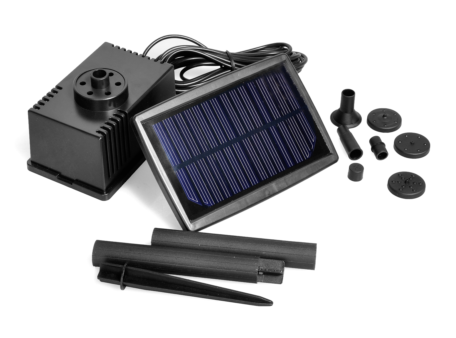 Solar Powered Water Feature Garden Pond Pool Pump Kit With Extension Tubes Ebay