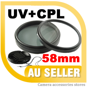 58mm-Lens-Cap-UV-CPL-Filter-For-Canon-500D-550D-1000D-Nikon-Sony-FAST-DELIVERY